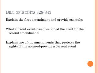 Bill of Rights 328-343