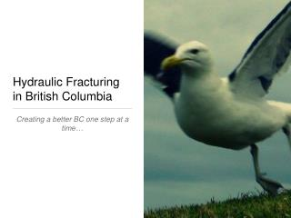 Hydraulic Fracturing in British Columbia
