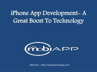 iPhone app development- a great boost to technology
