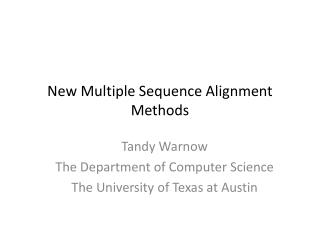 New Multiple Sequence Alignment Methods