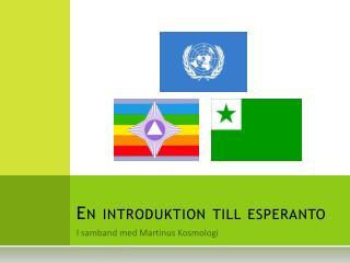 En introduktion till esperanto