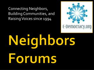 Neighbors Forums