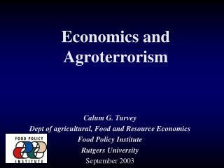 Economics and Agroterrorism