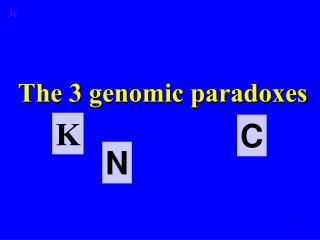 The 3 genomic paradoxes