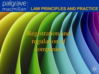 Registration and regulation of companies