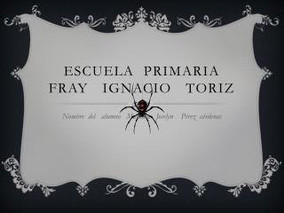 ESCUELA  PRIMARIA  FRAY   IGNACIO   TORIZ