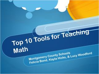 Top 10 Tools for Teaching Math