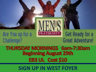 Thursday Morning Men's Fraternity