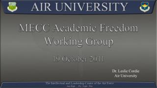 MECC Academic Freedom  Working Group