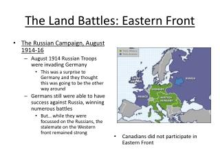 The Land Battles: Eastern Front