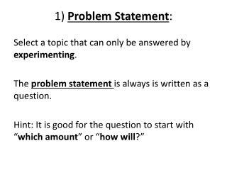 1)  Problem Statement :