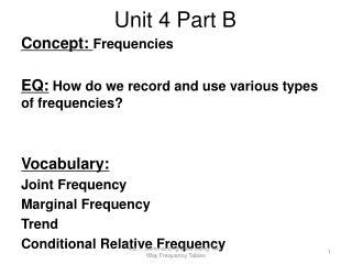 Unit 4 Part B