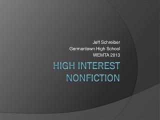 High Interest Nonfiction