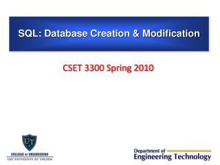 CSET 3300 Spring 2010