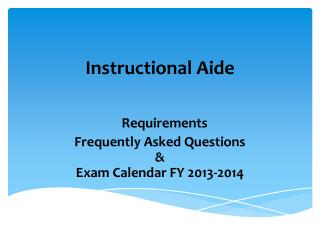 Instructional Aide