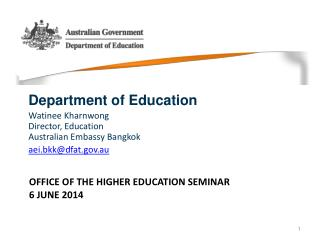 Office of the Higher Education seminar  6 June 2014