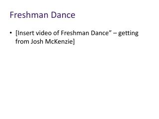 Freshman Dance
