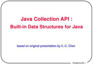 Java Collection API : Built-in Data Structures for Java