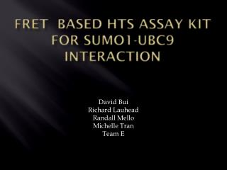 FRET  Based HTS Assay Kit for SUMO1-UBC9 Interaction