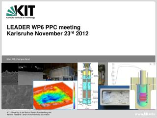 LEADER WP6 PPC meeting  Karlsruhe November 23 rd  2012