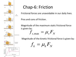 Chap-6: Friction