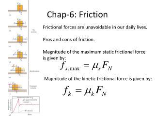Chap-6: Friction