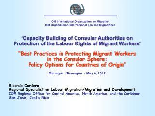 IOM International Organization for Migration OIM  Organización Internacional para las Migraciones