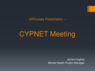 ARTiculate  Presentation –  CYPNET Meeting