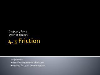 4.3 Friction