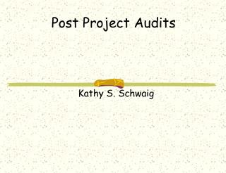 Post Project Audits