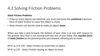 4.3 Solving Friction Problems