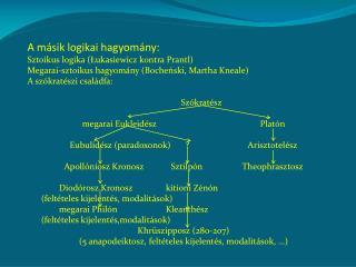 A másik logikai hagyomány: Sztoikus logika (Łukasiewicz kontra Prantl)