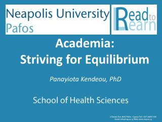 Academia:  Striving for Equilibriu m