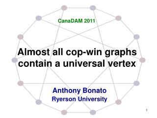 Almost all cop-win graphs contain a universal vertex