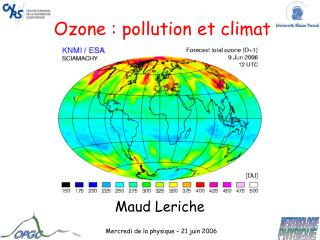 Ozone : pollution et climat