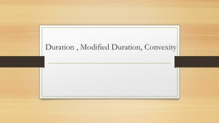 Duration  Convexity