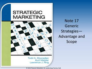 Note 17 Generic Strategies— Advantage and Scope