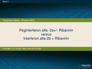 Peginterferon alfa -2a+/- Ribavirin versus Interferon alfa-2b + Ribavirin