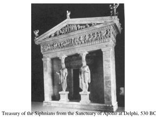 Treasury of the Siphnians from the Sanctuary of Apollo at Delphi, 530 BC