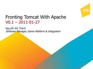 Fronting Tomcat With Apache V0.1 – 2011-01-27