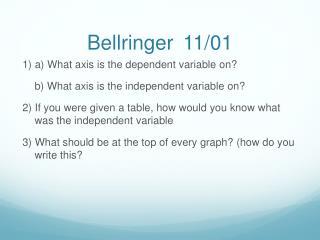 Bellringer 11/01