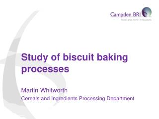 Study of biscuit baking processes