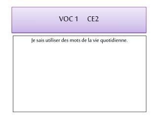 VOC  1      CE2