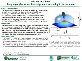 Imaging of electromechanical phenomena in liquid environment