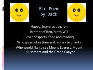 Bio Poem by Jack