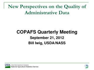 New Perspectives on the Quality of Administrative Data