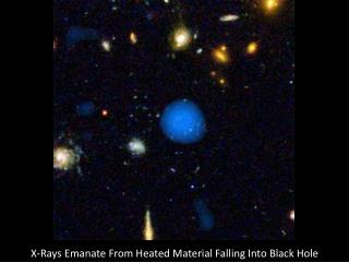 X-Rays Emanate From Heated Material Falling Into Black Hole