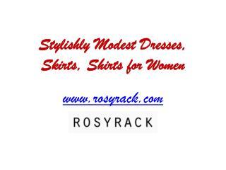 Stylishly Modest Dresses for Women - www.rosyrack.com