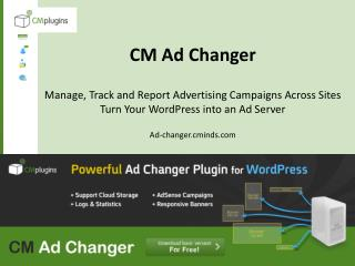 CM Ad Changer Plugin for Wordpress