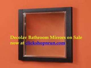 Daecolav Bathroom Mirrors on Sale now at clickshopnrun.com